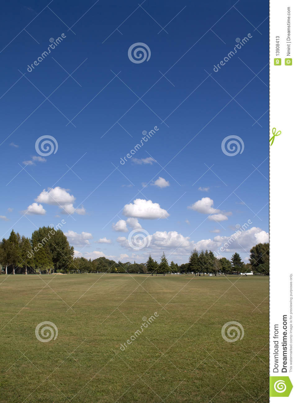 Green Grass, Trees And Blue Sky Stock Photos - Image: 13908413