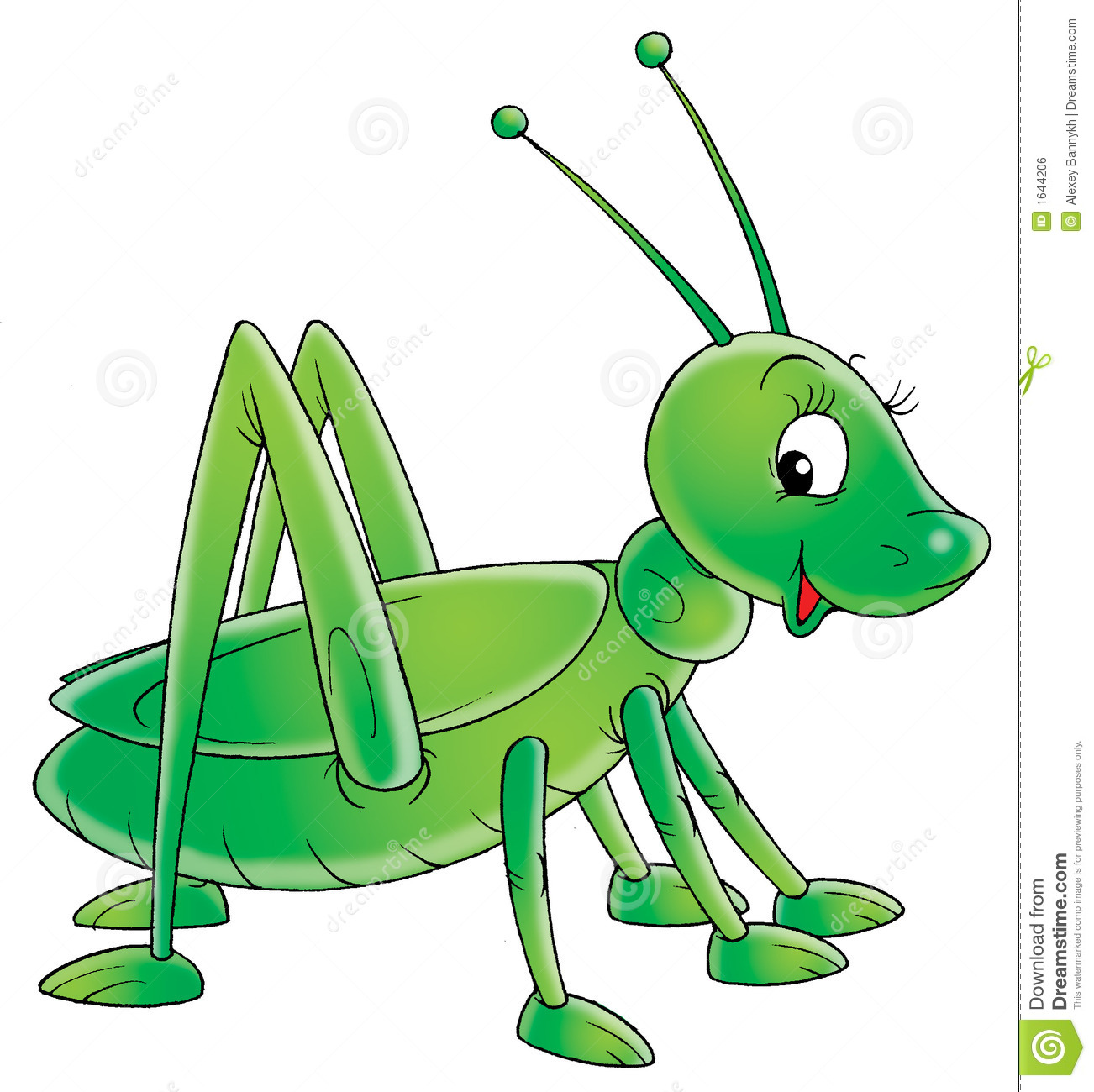Clip Art Grasshopper Isolated clip-art and