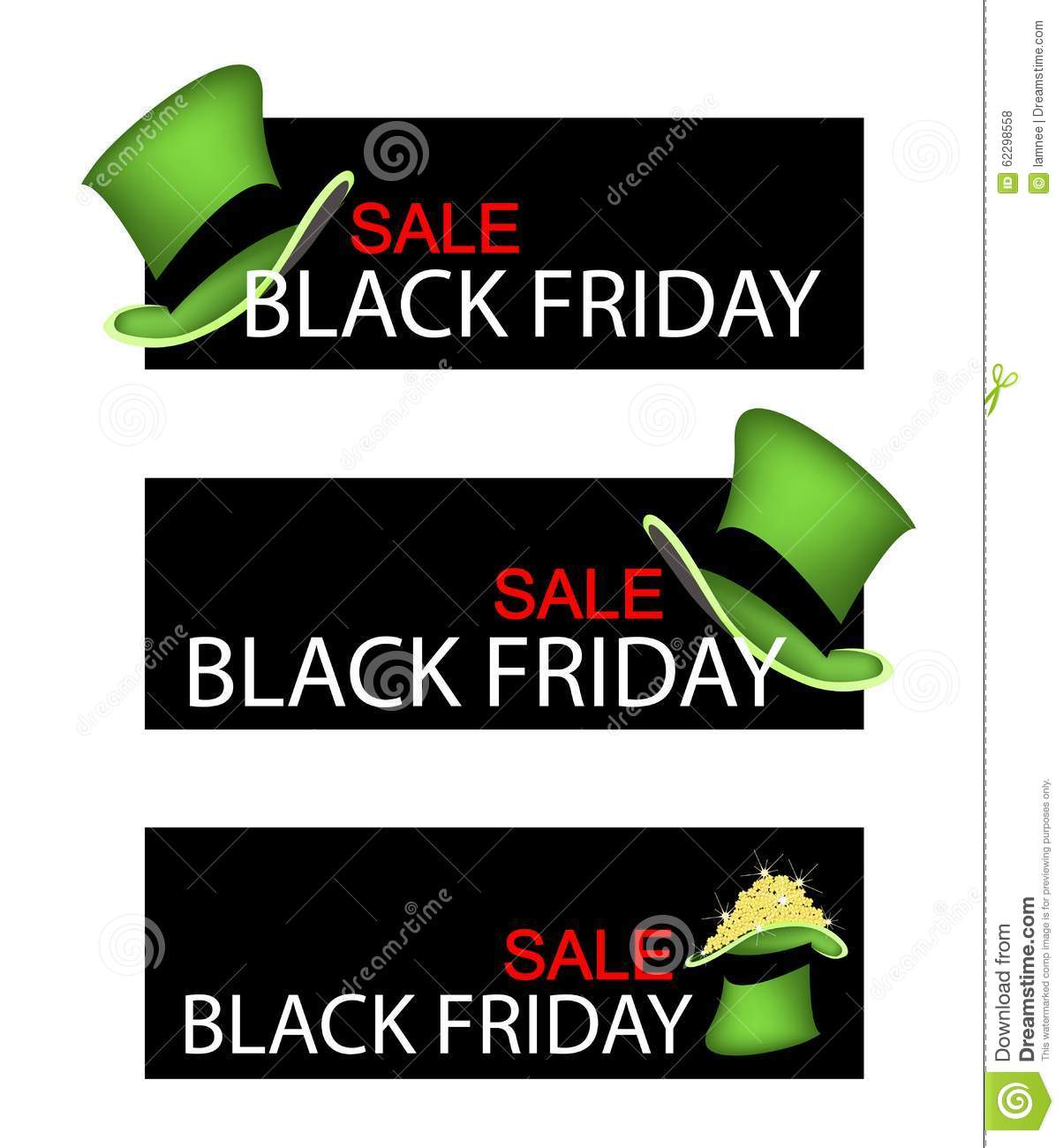 green hat on black friday sale banner stock illustration image 62298558. Black Bedroom Furniture Sets. Home Design Ideas
