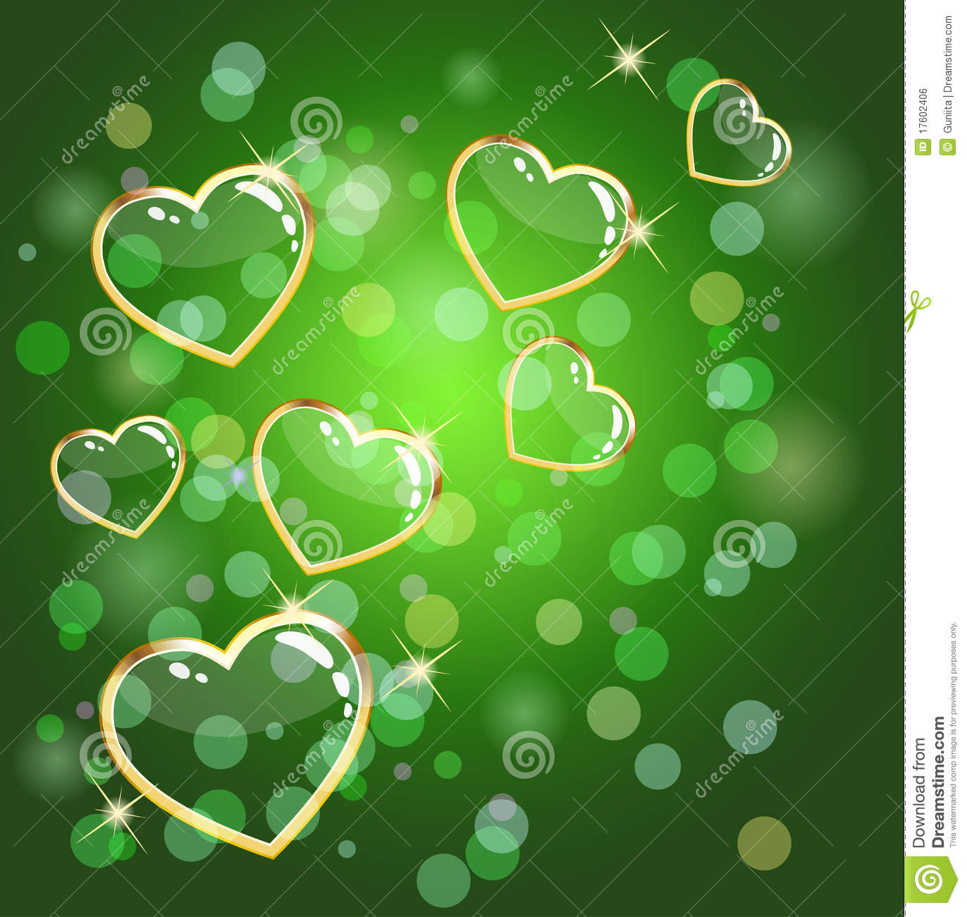 green hearts background - photo #22