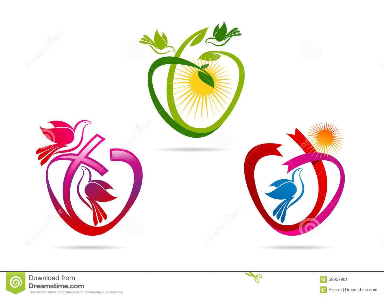 Sacred stock illustrations 36181 sacred stock illustrations green heart logolove shape ribbon with dove symbol pigeon spiritual sacred icon biocorpaavc Gallery