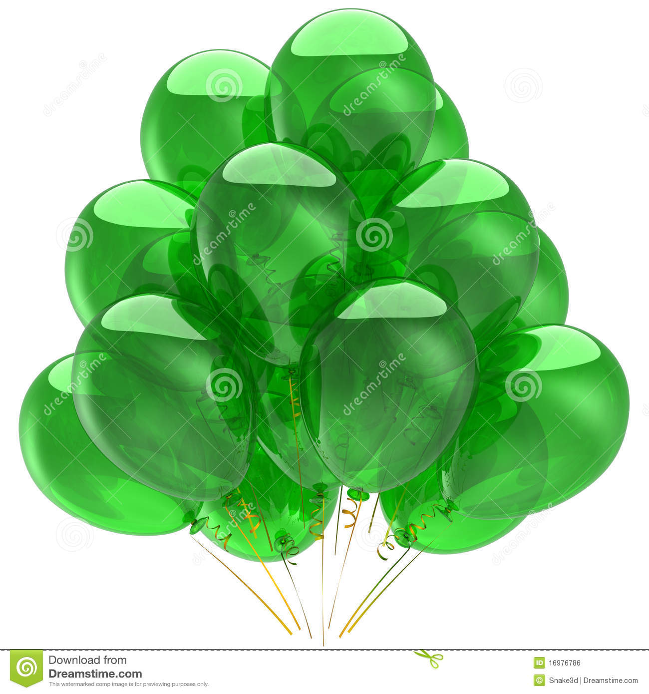 Green Helium Ballons (Hi-Res) Royalty Free Stock Image - Image