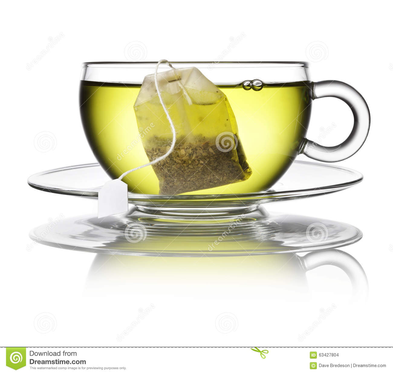 Green Herbal Tea Bag Cup