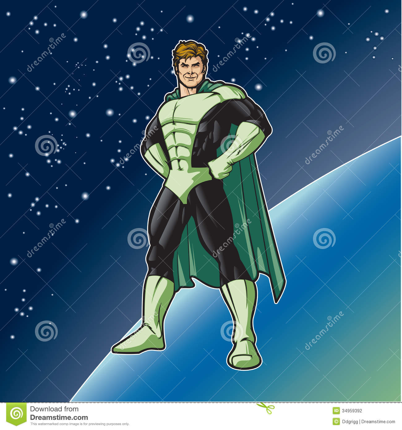 green hero stand stock vector  image of protect  protection