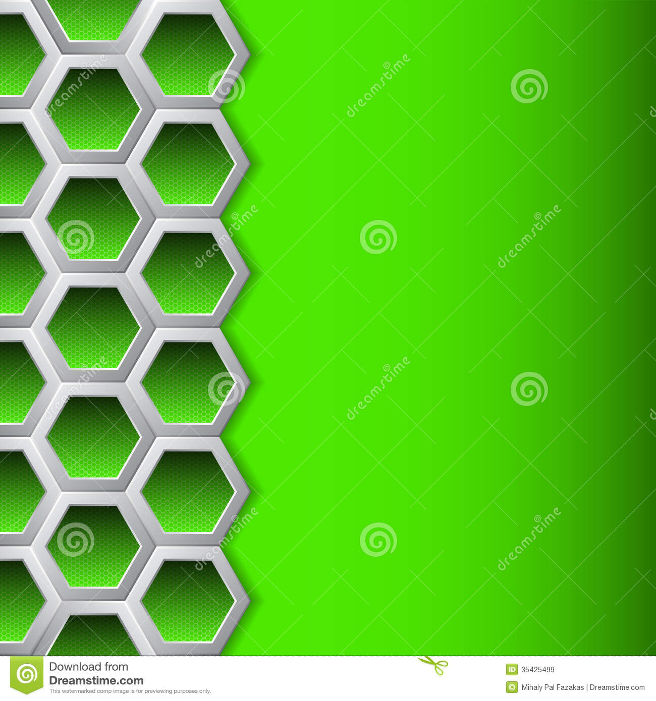 Green hexagons brochure background royalty free stock for Background for brochure design