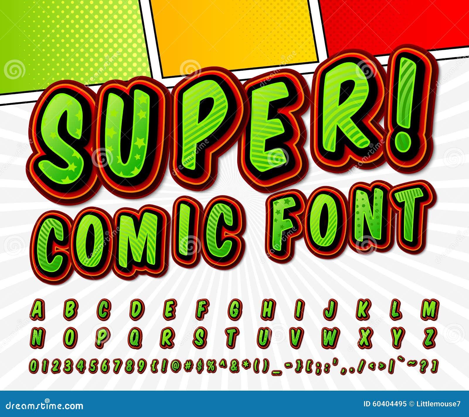 Red-white High Detail Comic Font, Alphabet. Comics, Pop Art Stock ...