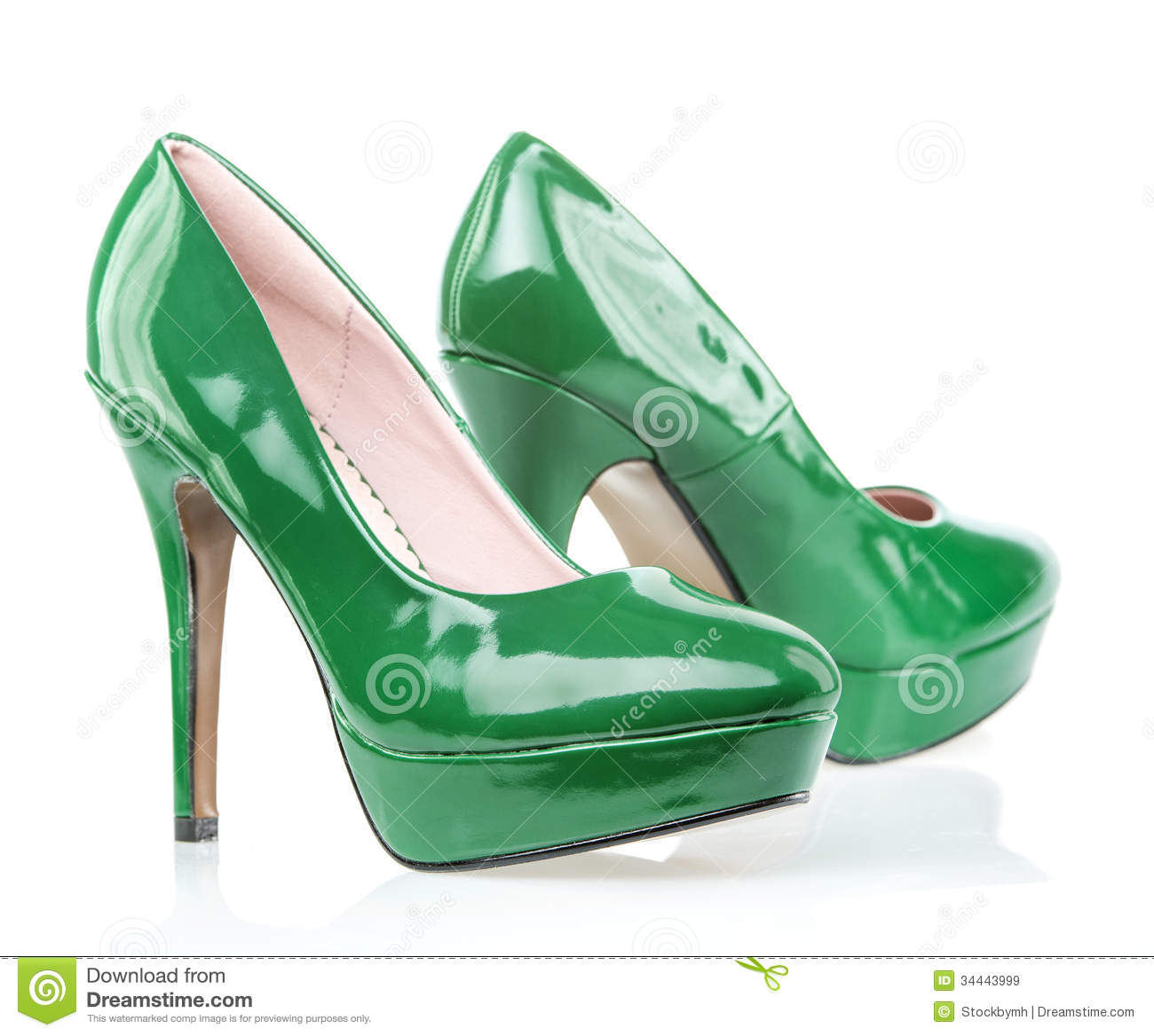 Green High Heel Shoes Images