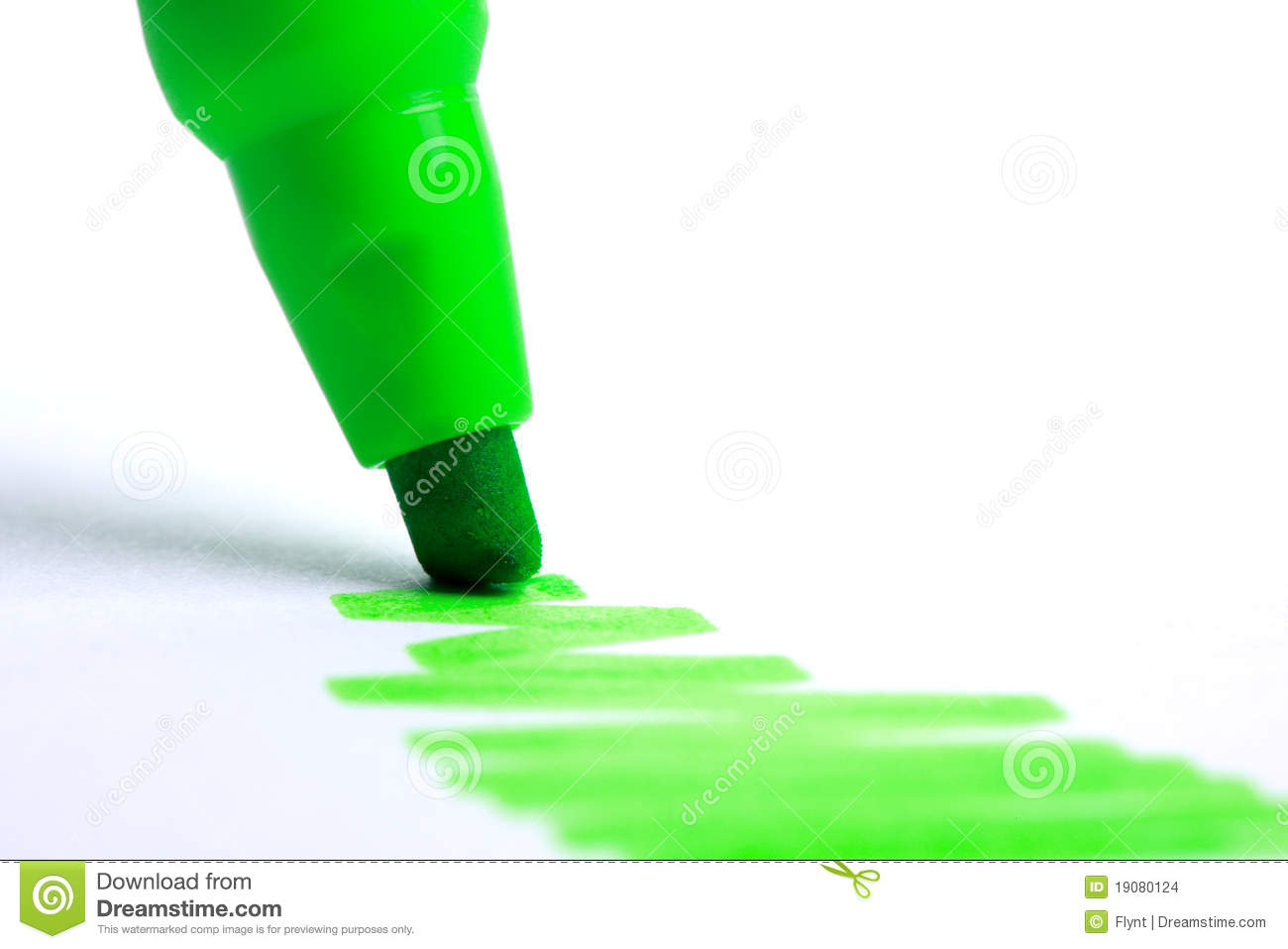 Green Highlighter Stock Images - Image: 19080124