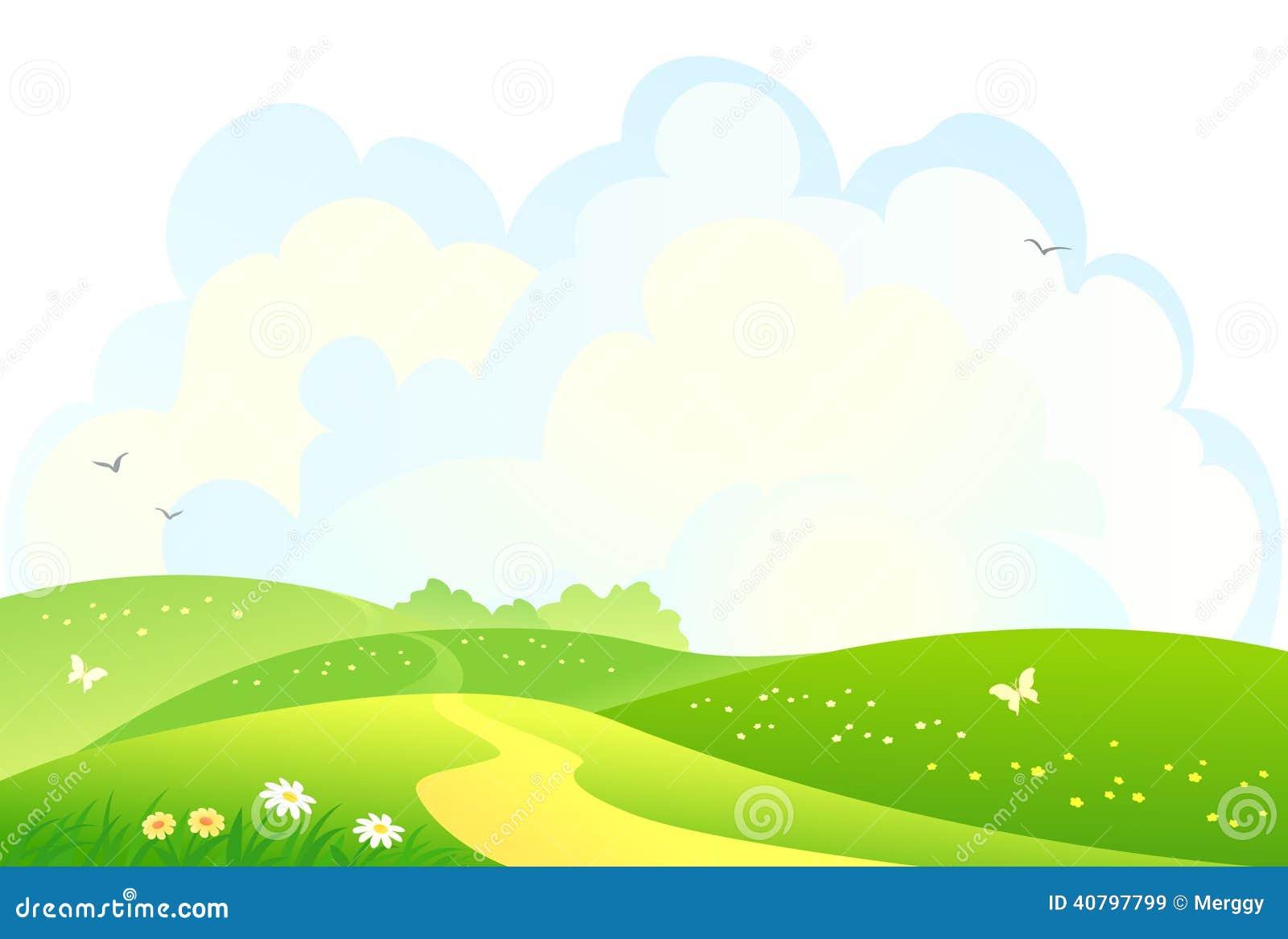 Green Hills Background Stock Vector - Image: 40797799
