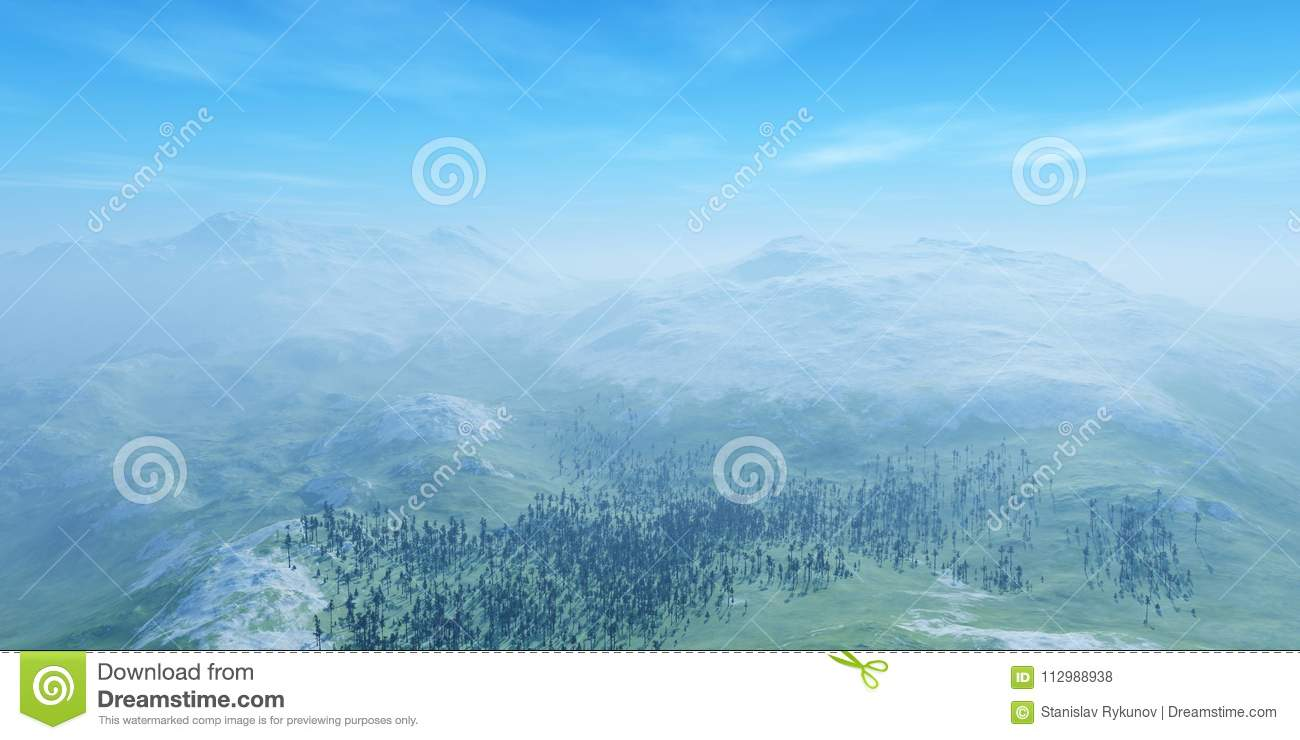 Panorama of the hilly landscape