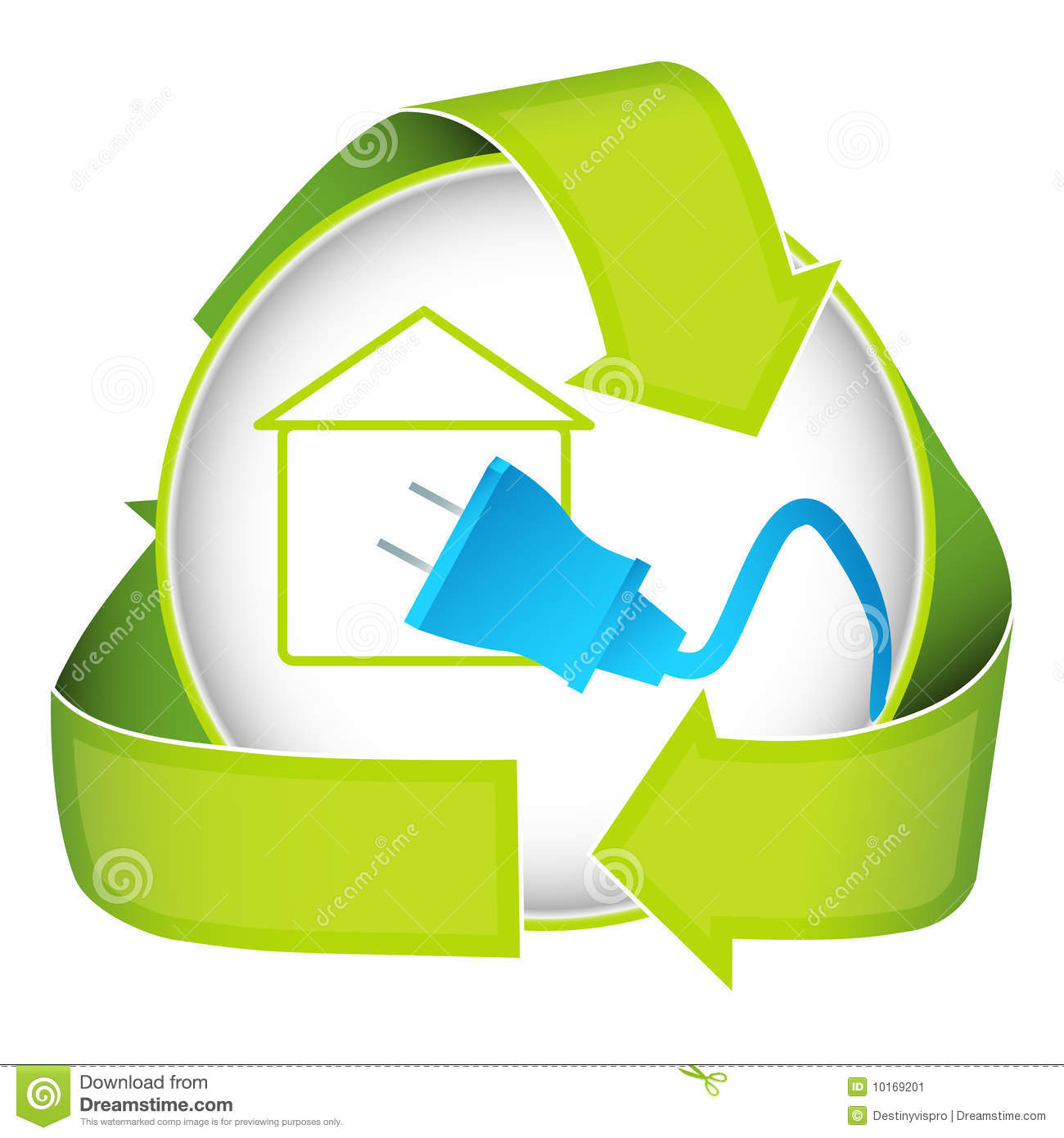 Green Home Electricity Icon Stock Image - Image: 10169201