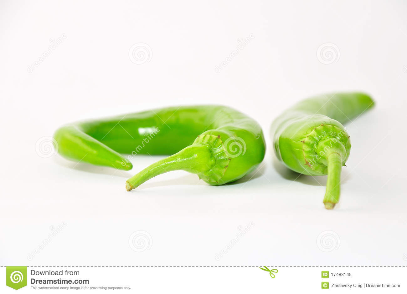 Green Hot Pepper. Royalty Free Stock Images - Image: 17483149