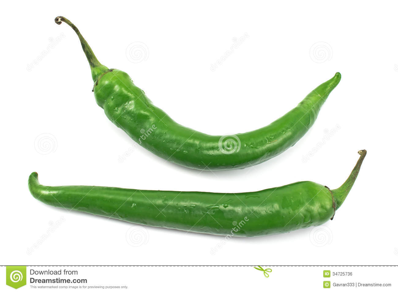 Green Hot Pepper Royalty Free Stock Image - Image: 34725736