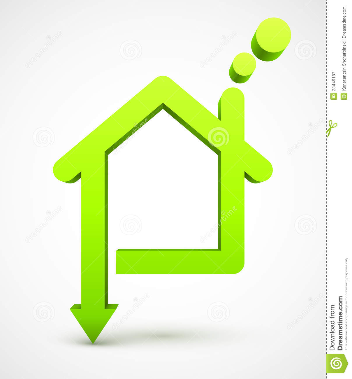 Green House Icon Royalty Free Stock Photography