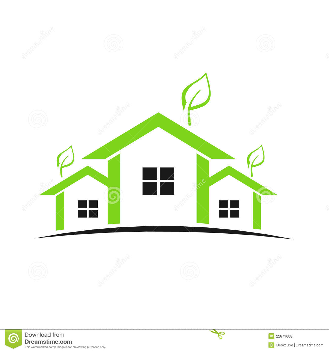 green houses logo royalty free stock photos image 22871608