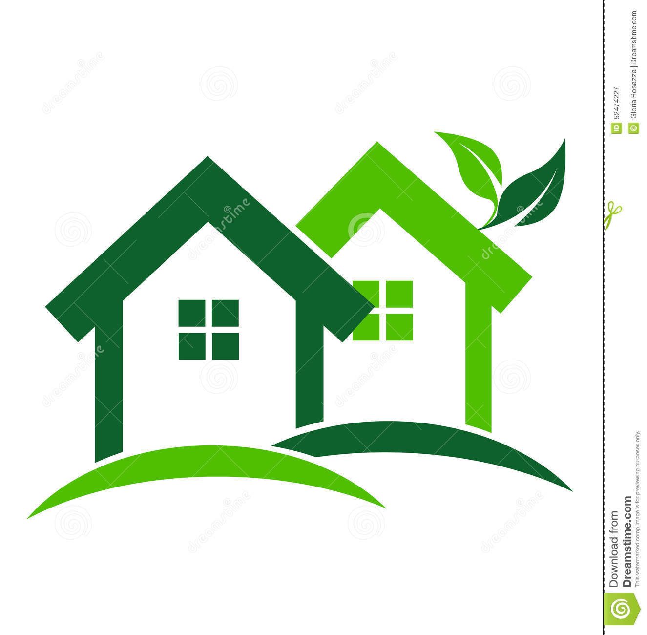 Green Houses Logo Stock Vector Image 52474227 Best Home Design Pictures  Interior Ideas.