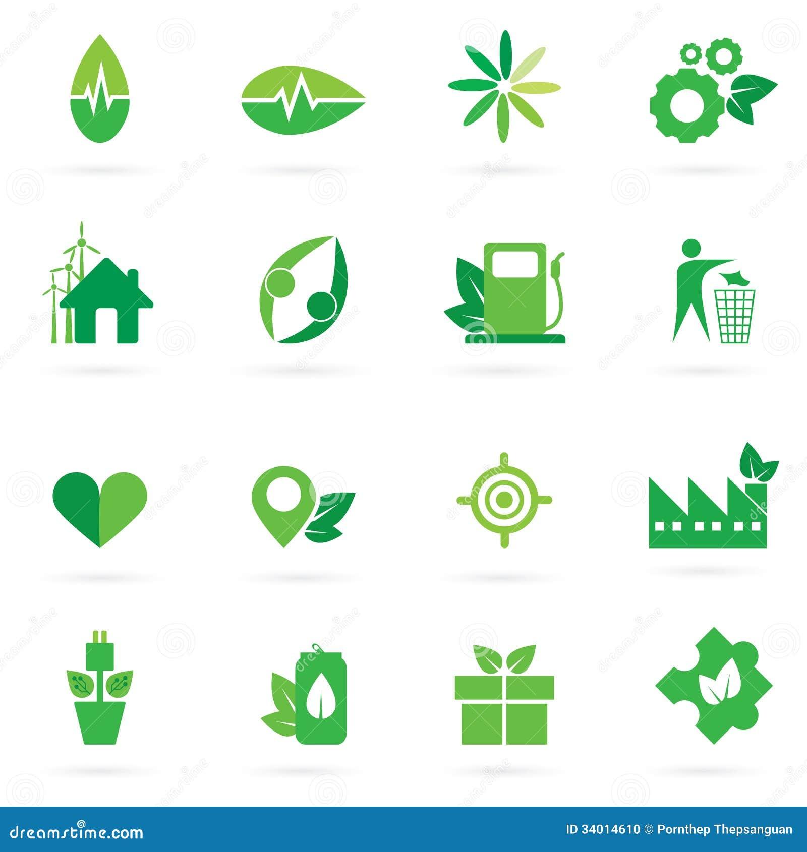 Green Icon And Symbol Design Stock Vector Illustration