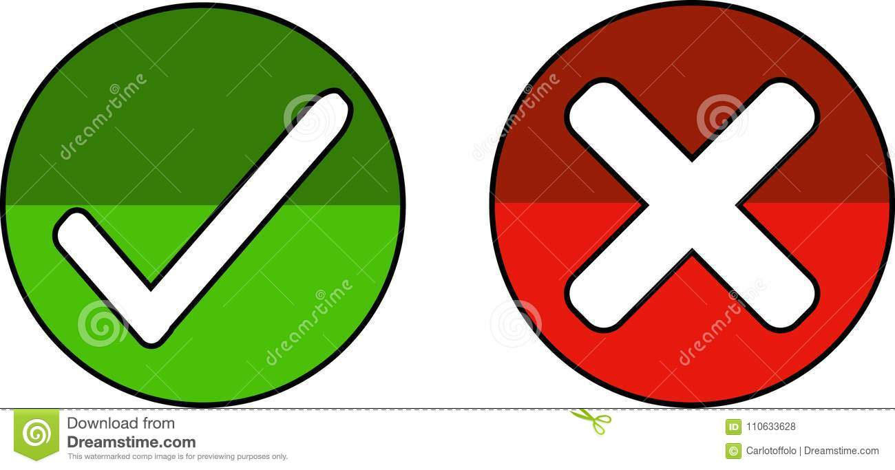 Icons To Accept And To Reject - Vector Stock Vector ...