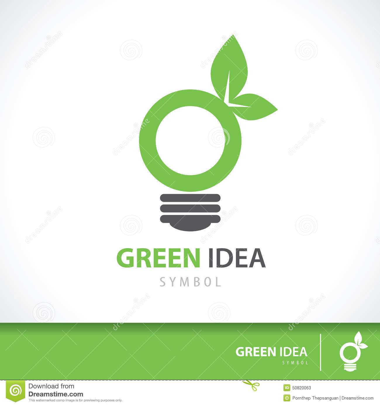 Green Idea Stock Vector Illustration Of Design Plant