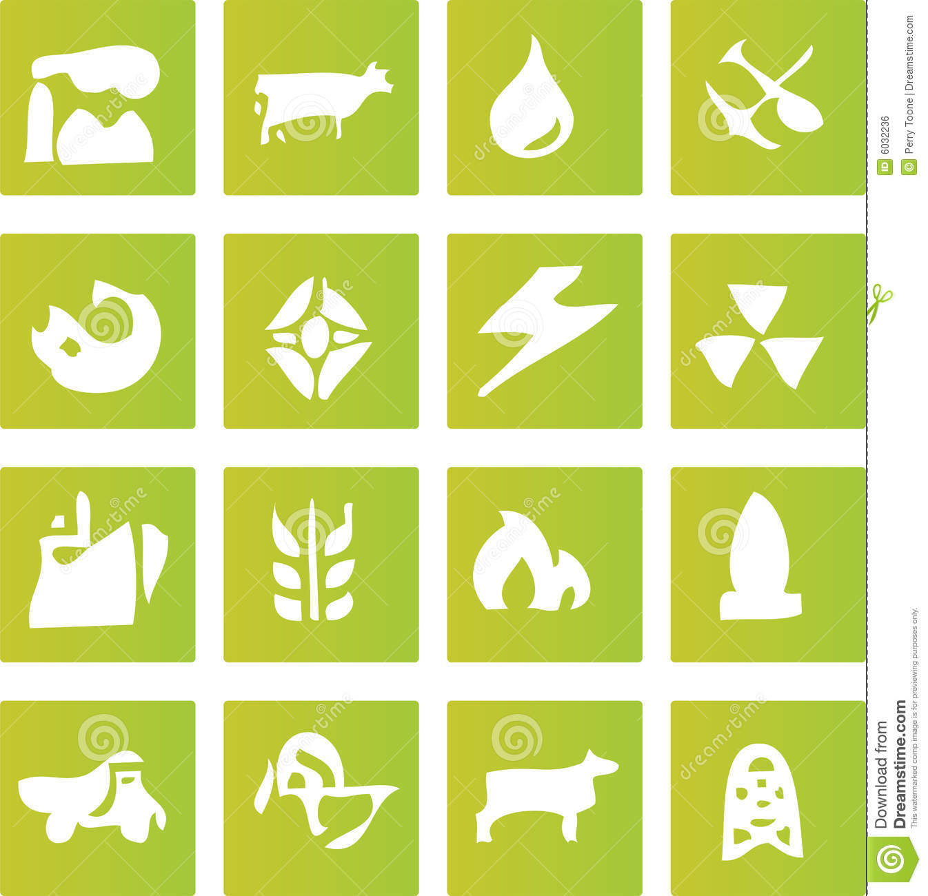 Green Industry Icons stock vector. Illustration of economy ...