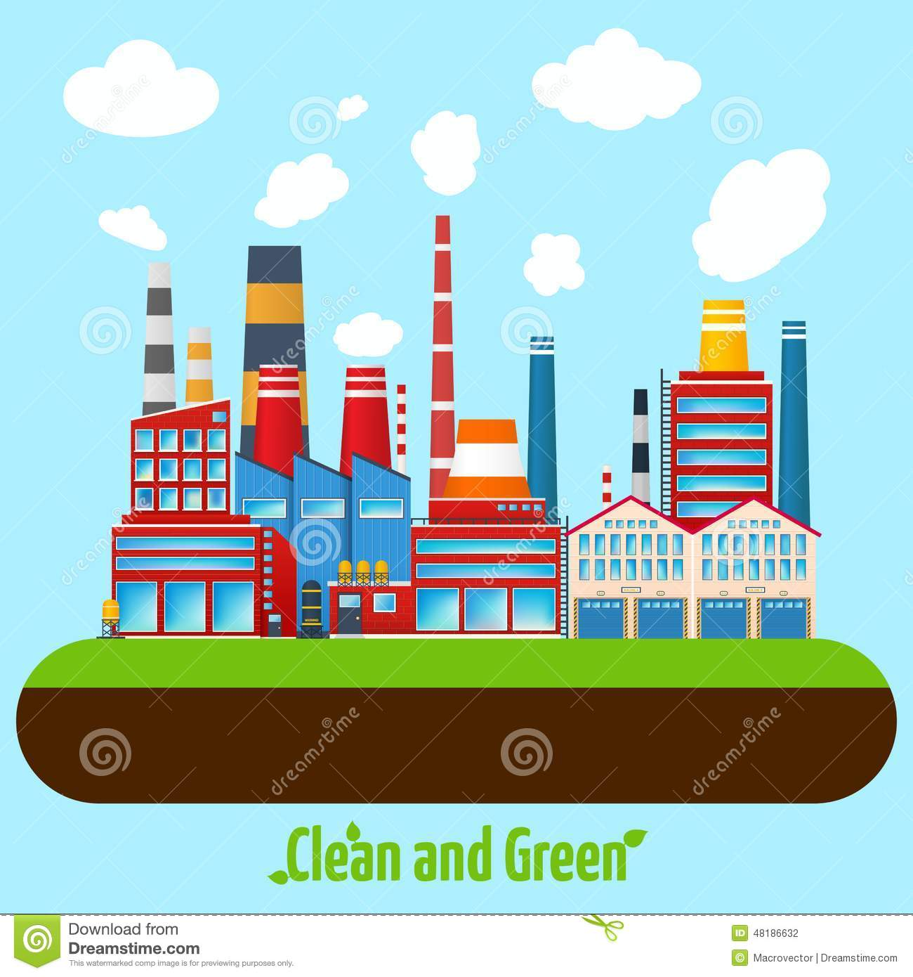green industry poster stock vector