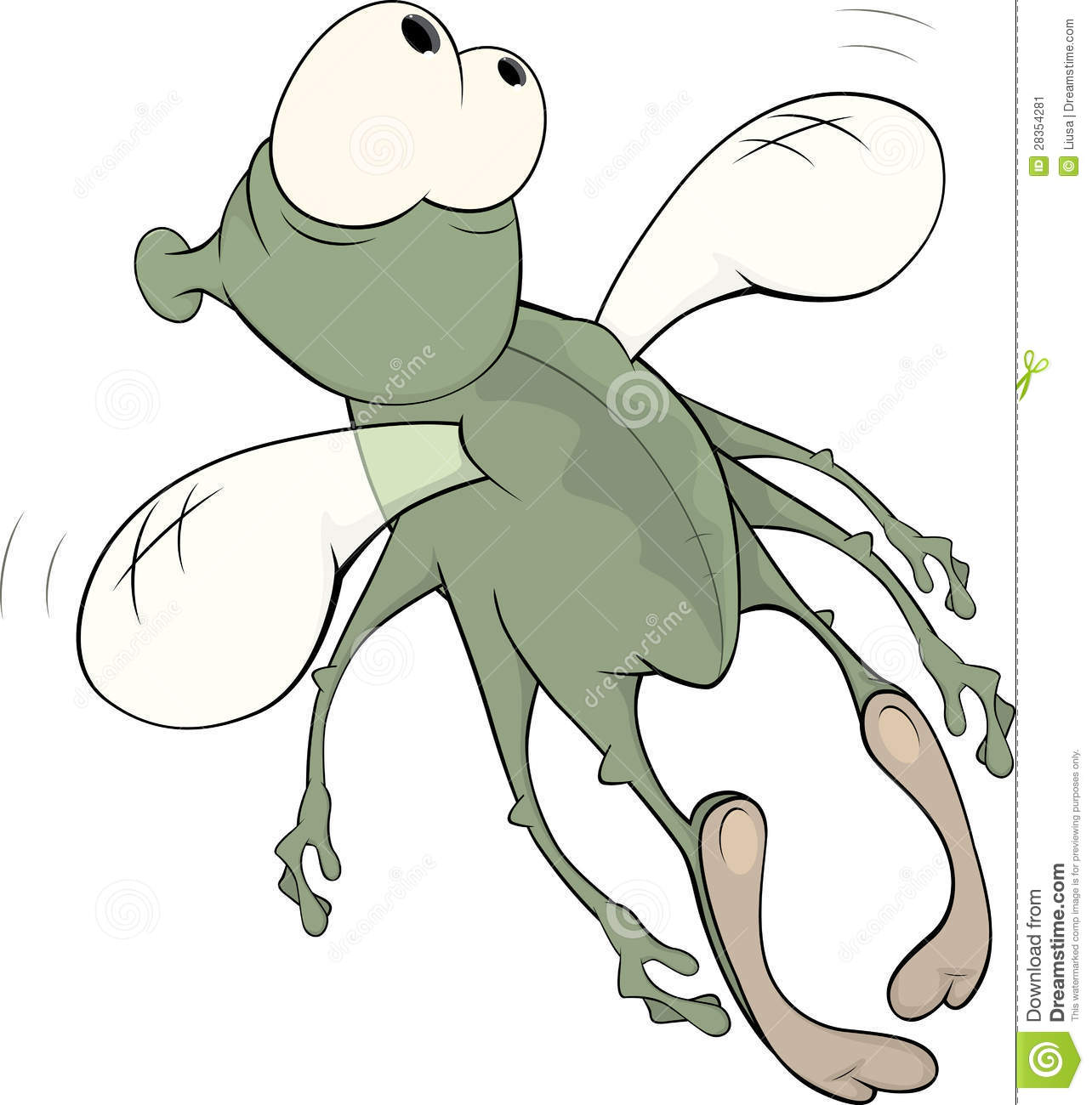 Stock image: green insect cartoon
