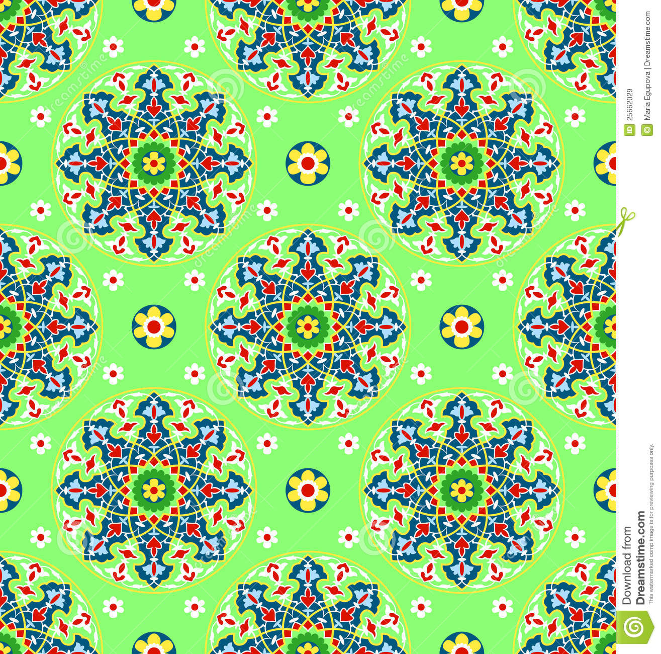 Royalty Free Stock Images Green Islamic Pattern Image