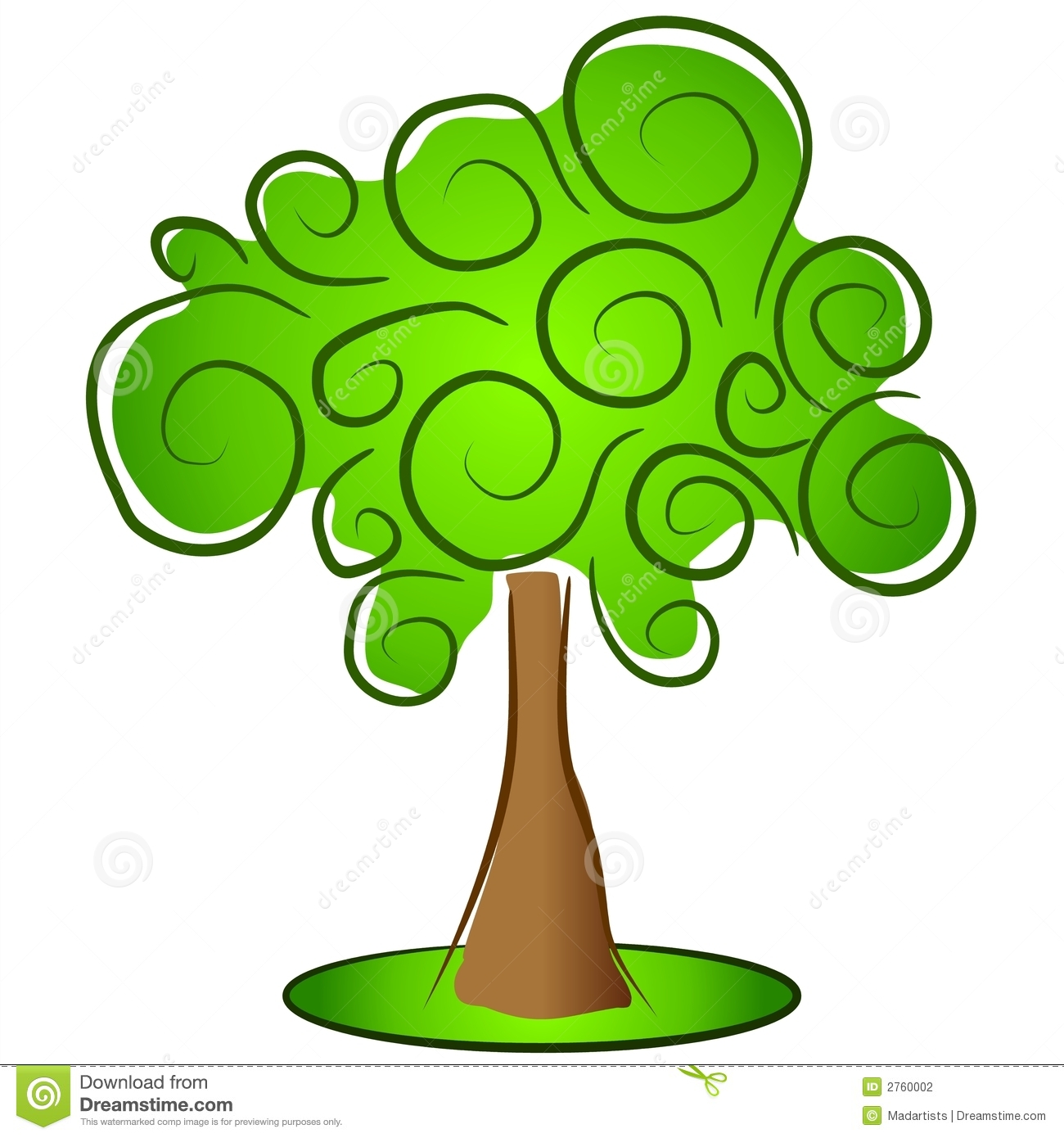 Green Isolated Tree Clipart Stock Photography - Image: 2760002