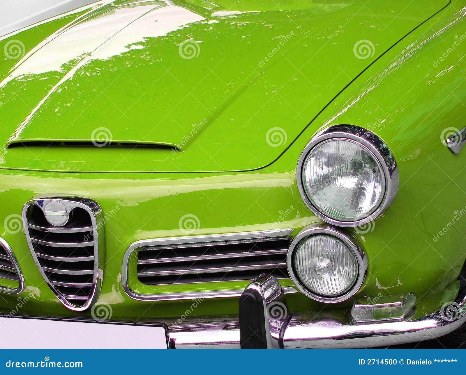 Green italian car
