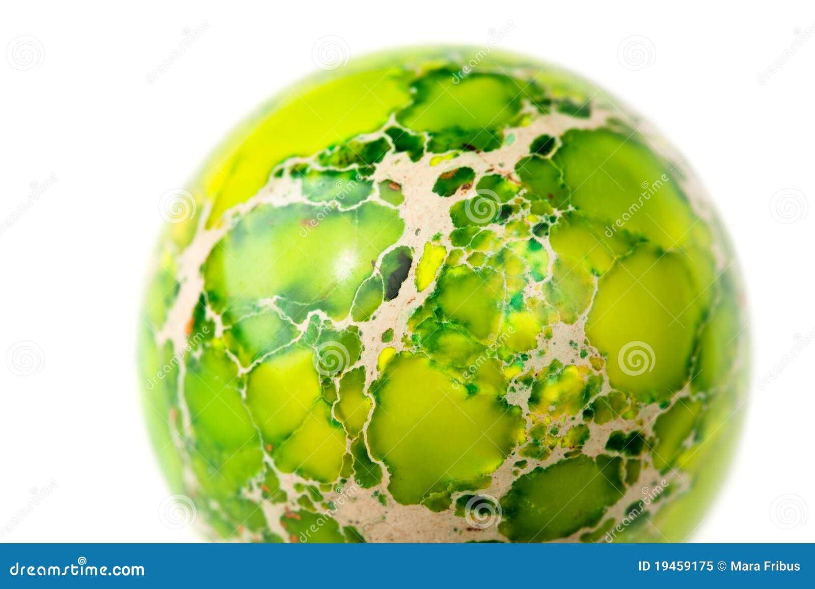 Green jasper sphere