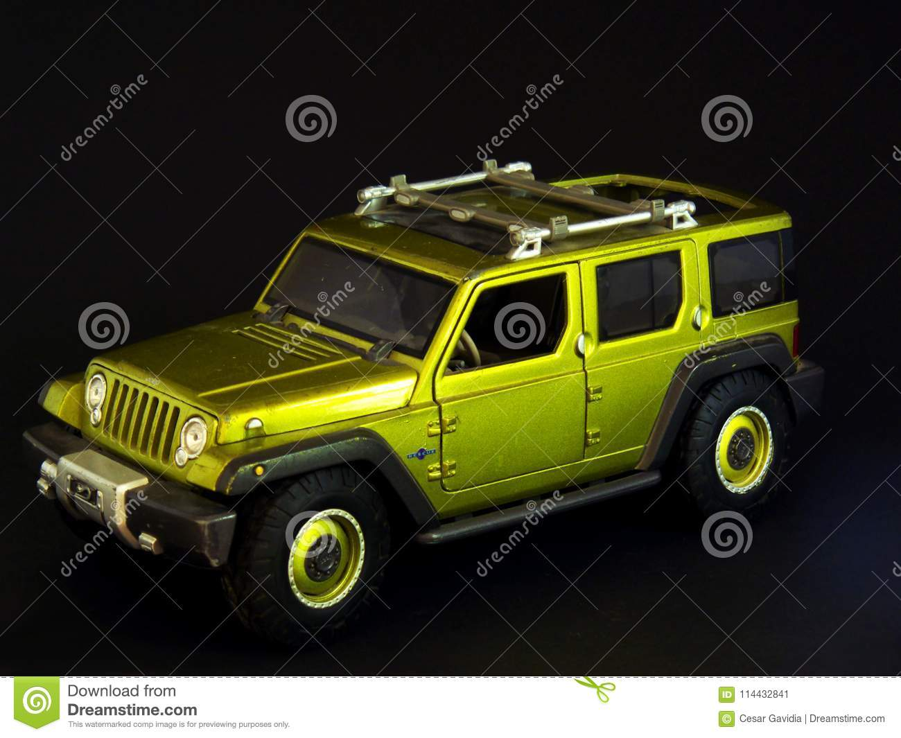 Green Jeep Toy Stock Image Image Of Sample Plastic 114432841
