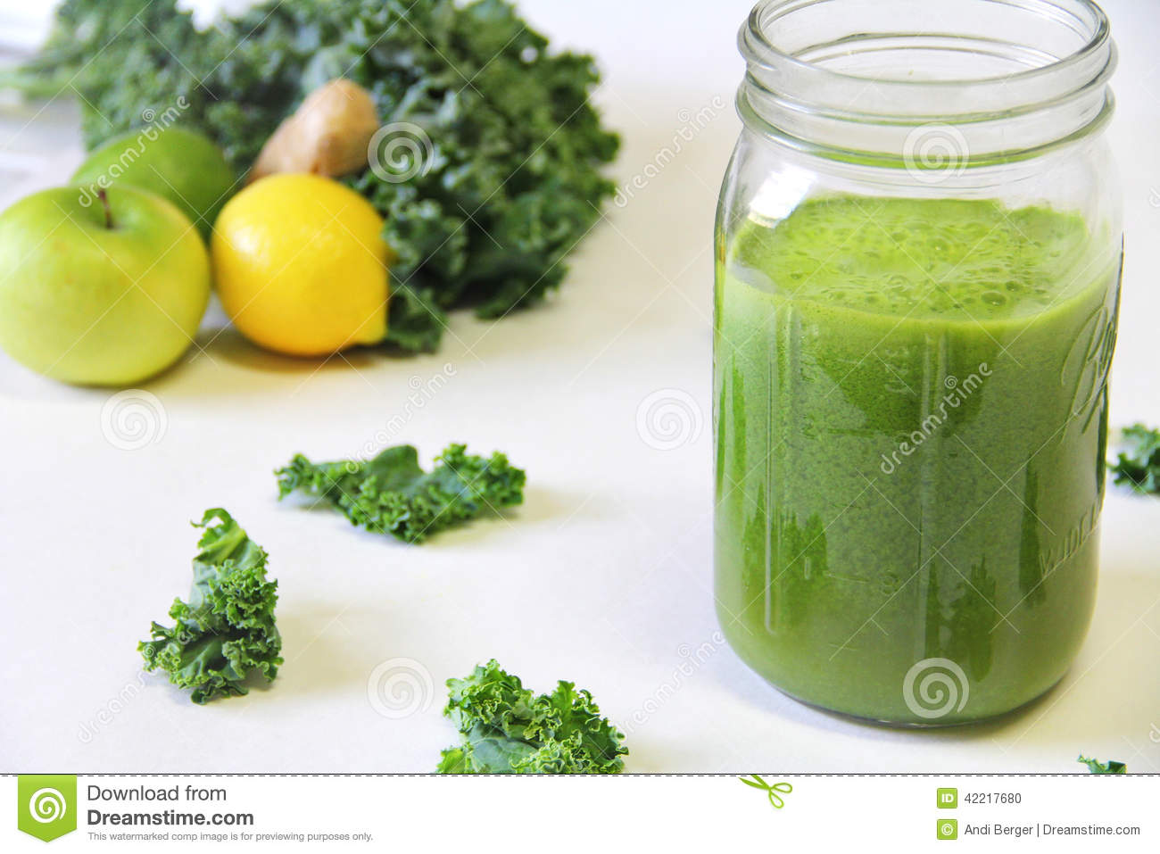 Green juice jar