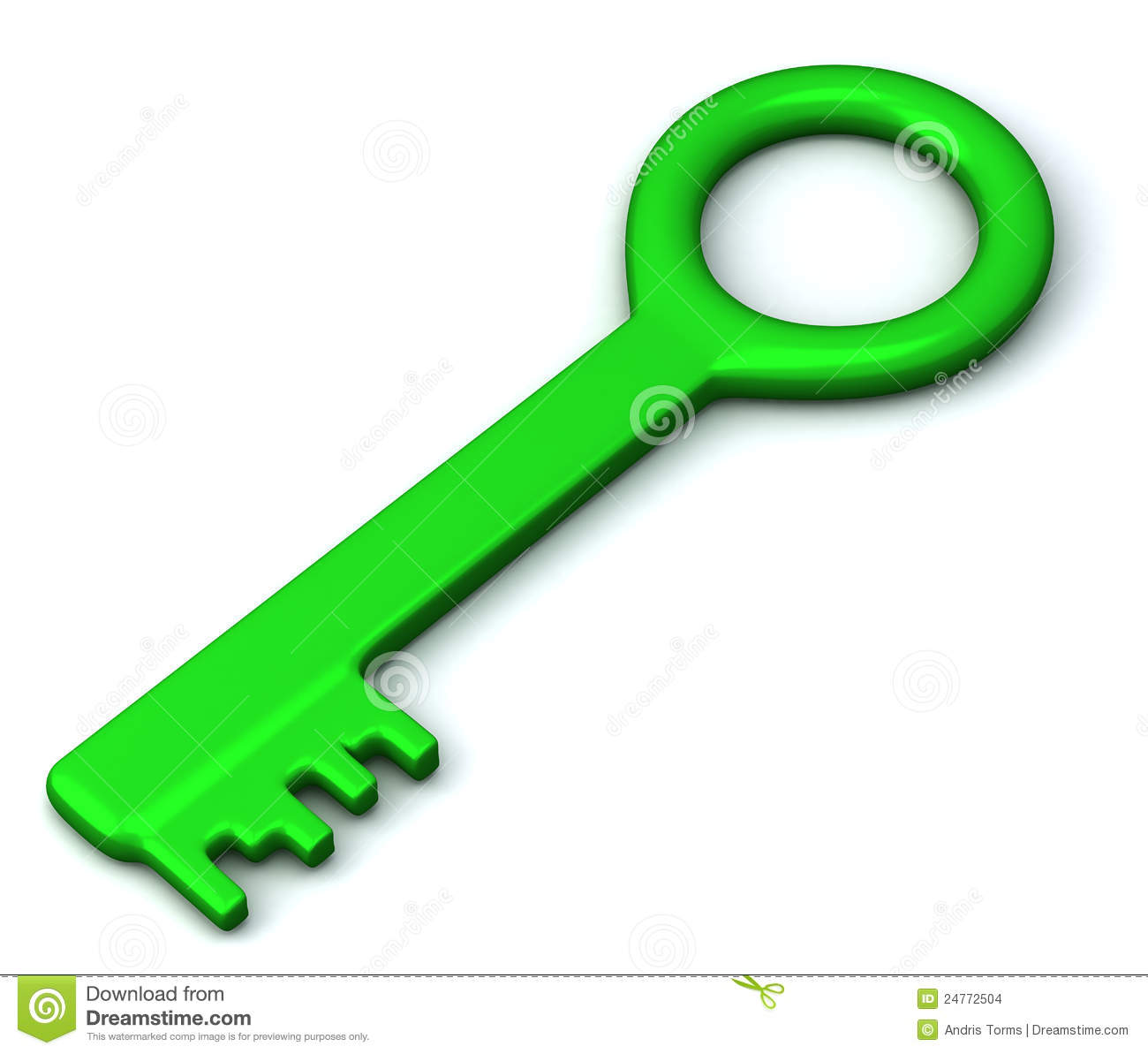 Free Home Plans Green Key Icon 3d Stock Illustration Illustration Of Idea