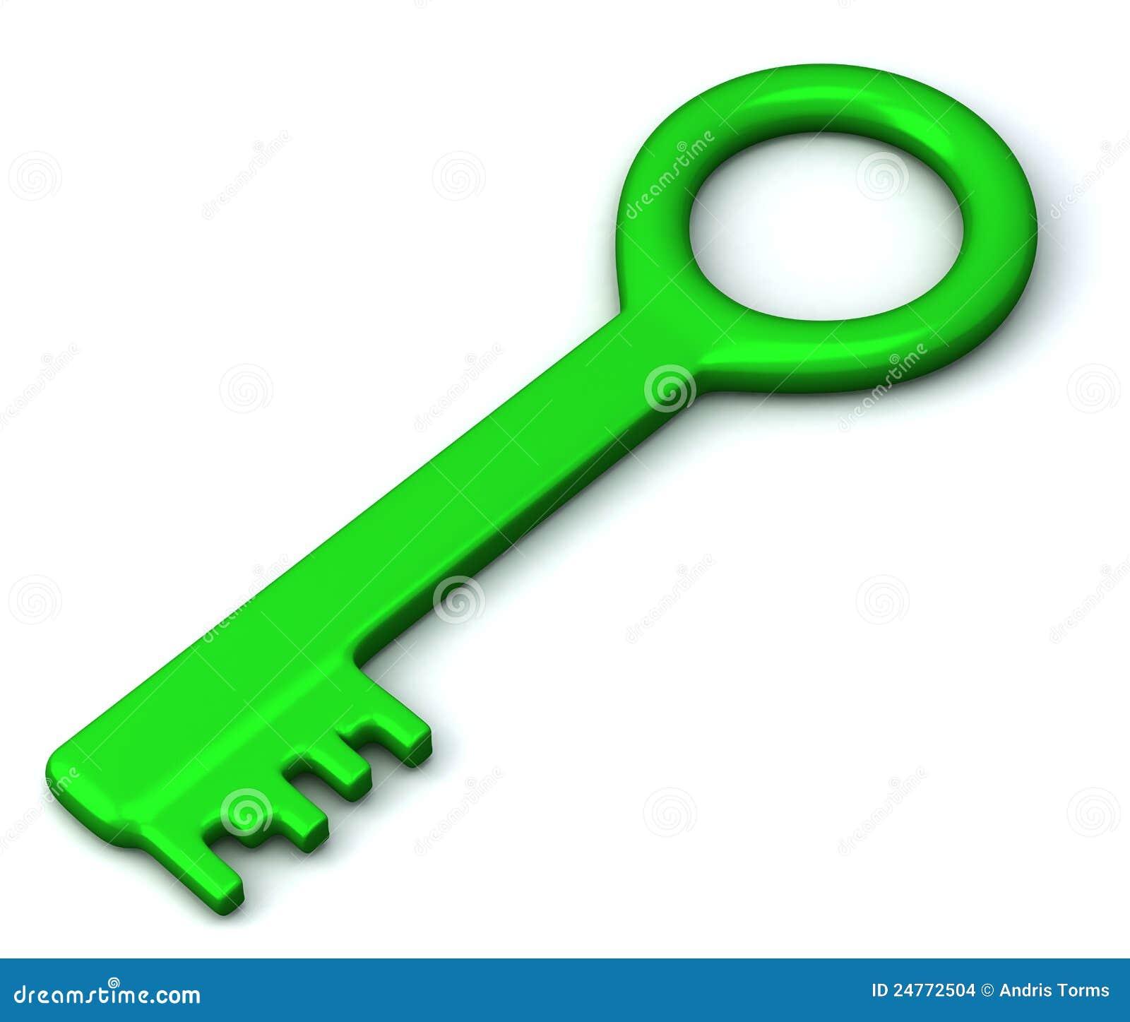 green key icon 3d 24772504