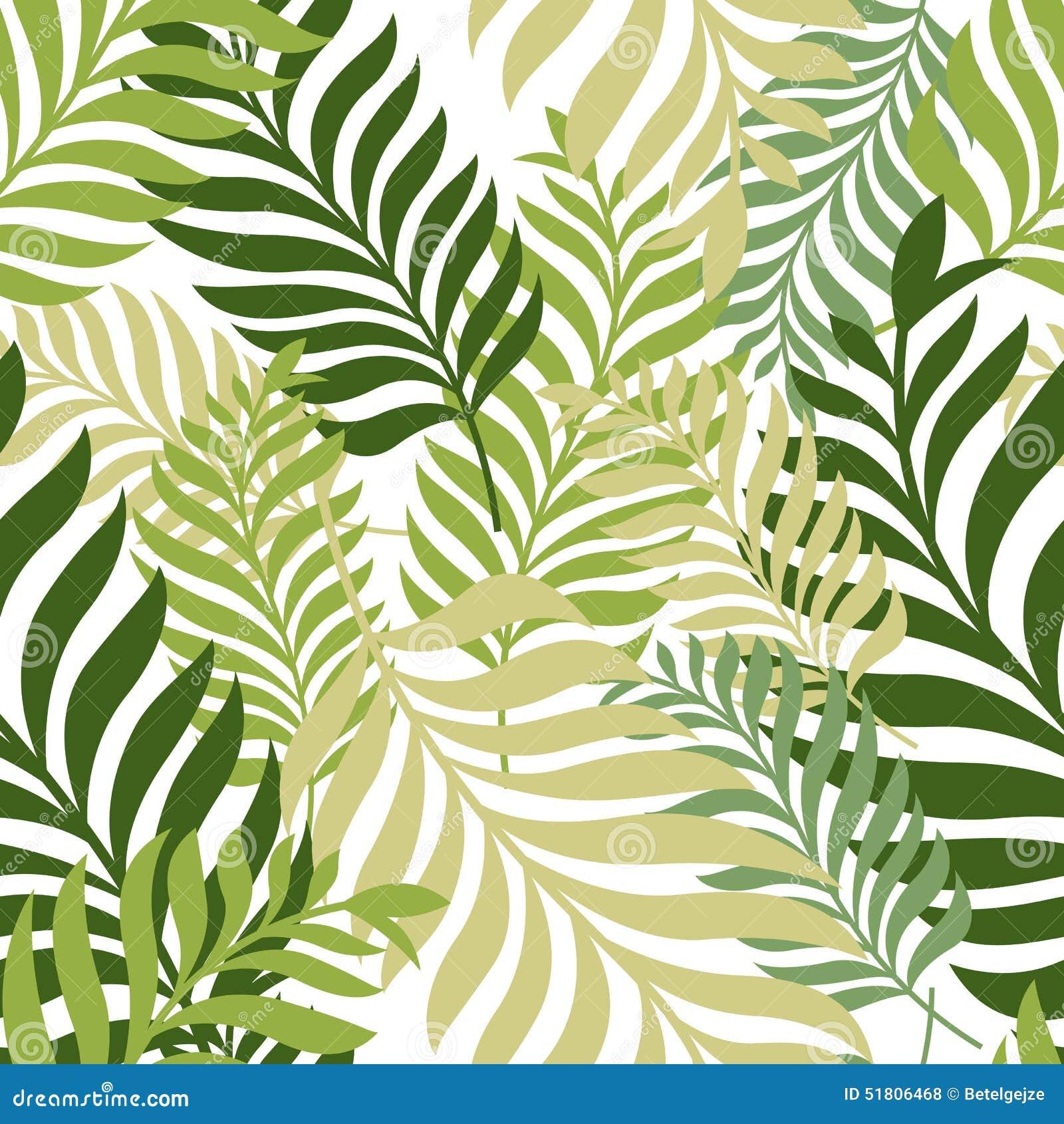 Green låter vara palmträdet seamless vektor för modell Organisk natur