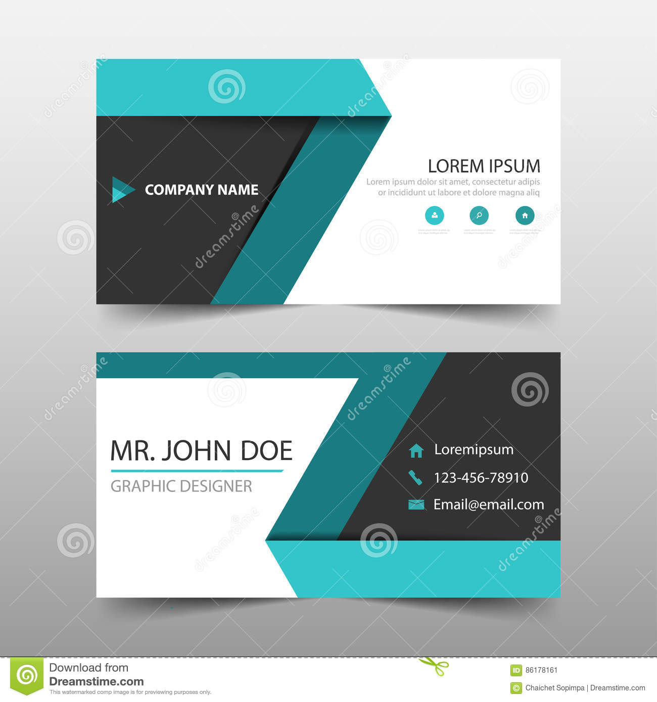 Green label corporate business card name card template horizontal download green label corporate business card name card template horizontal simple clean layout design cheaphphosting Gallery