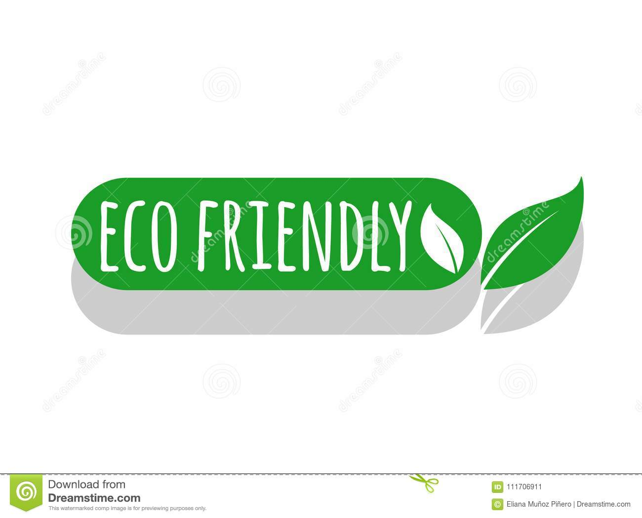 Eco Friendly Logo Eco Label Stock Illustration Illustration Of