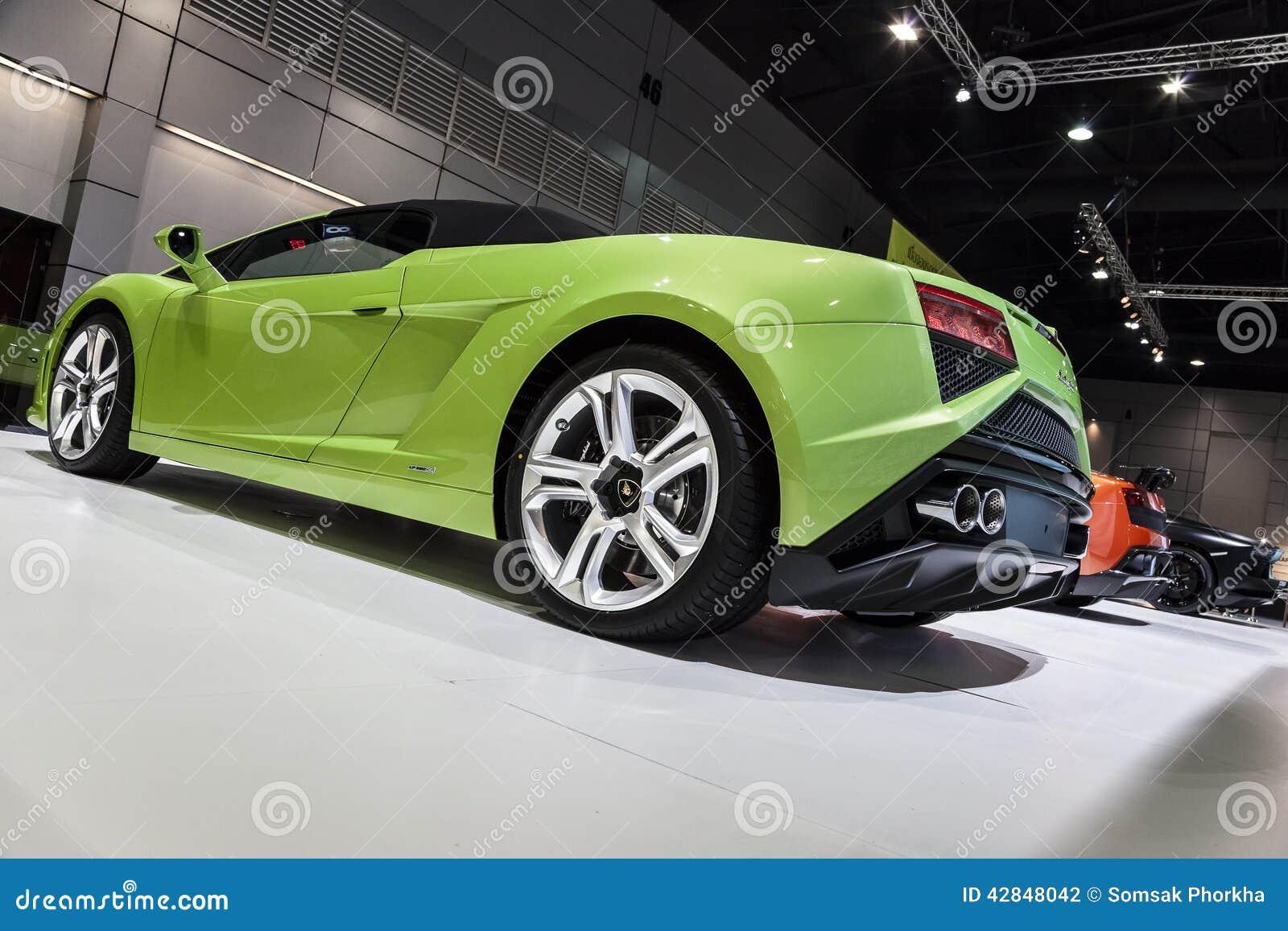 Green Lamborghini Gallardo Lp560 4 Spyder Editorial Photography
