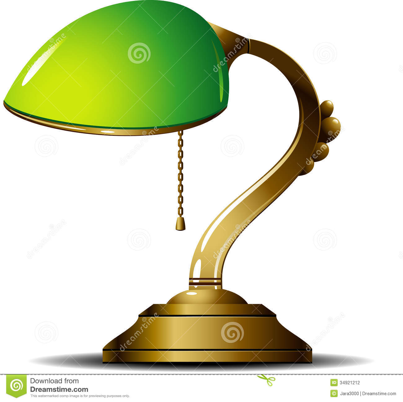 Green Lamp stock vector. Illustration of icon, lamp, furniture ... for Desk Lamp Clipart  59nar
