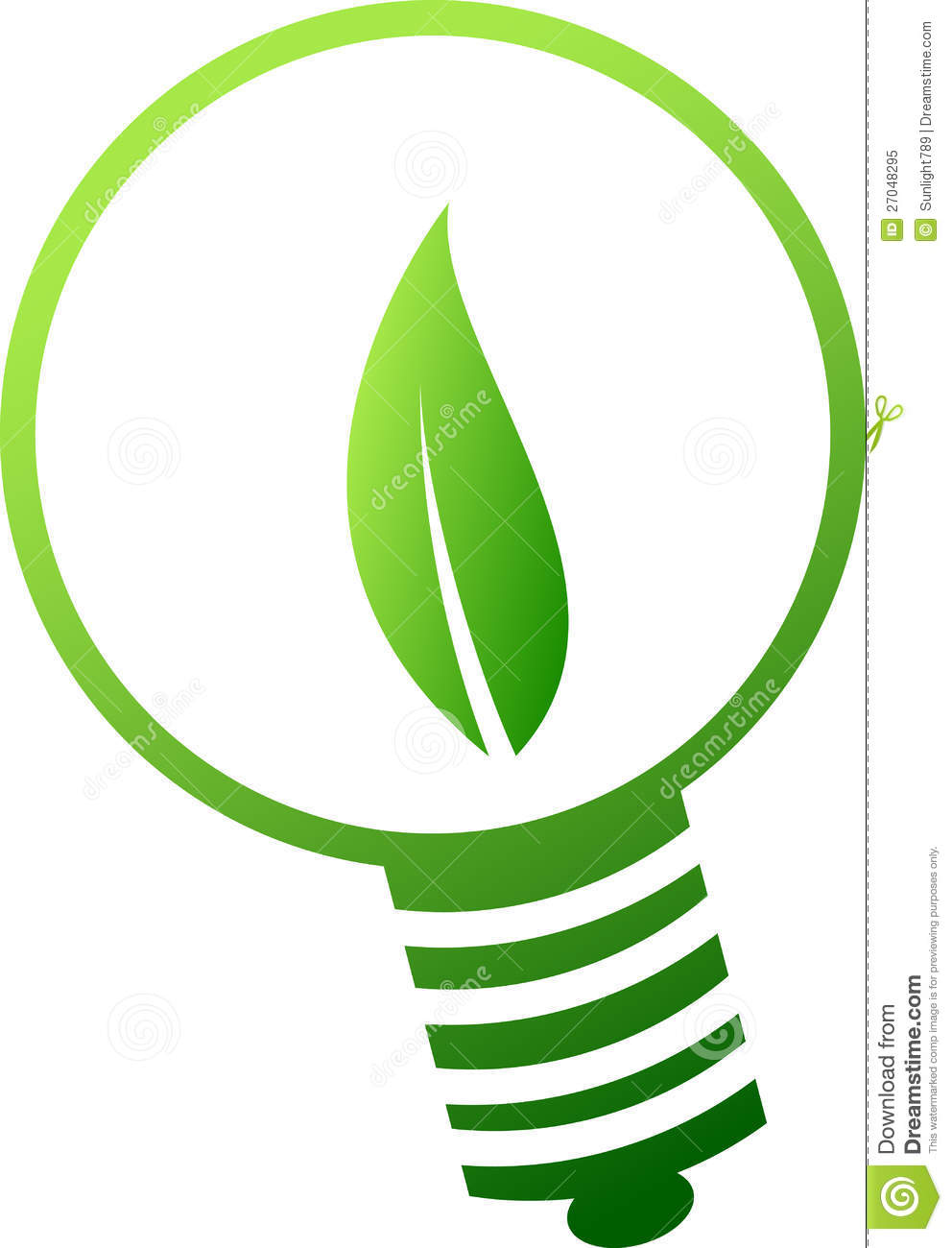 Green lamp symbol stock illustration. Illustration of future - 27048295