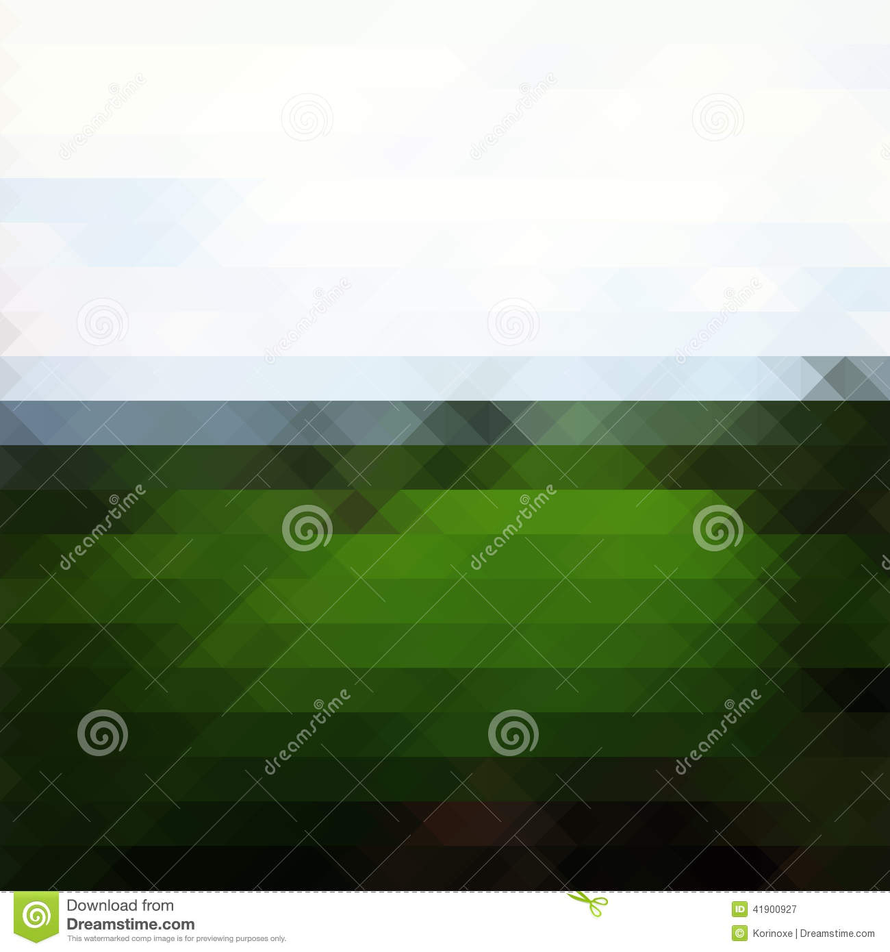 green landscape triangle background stock vector