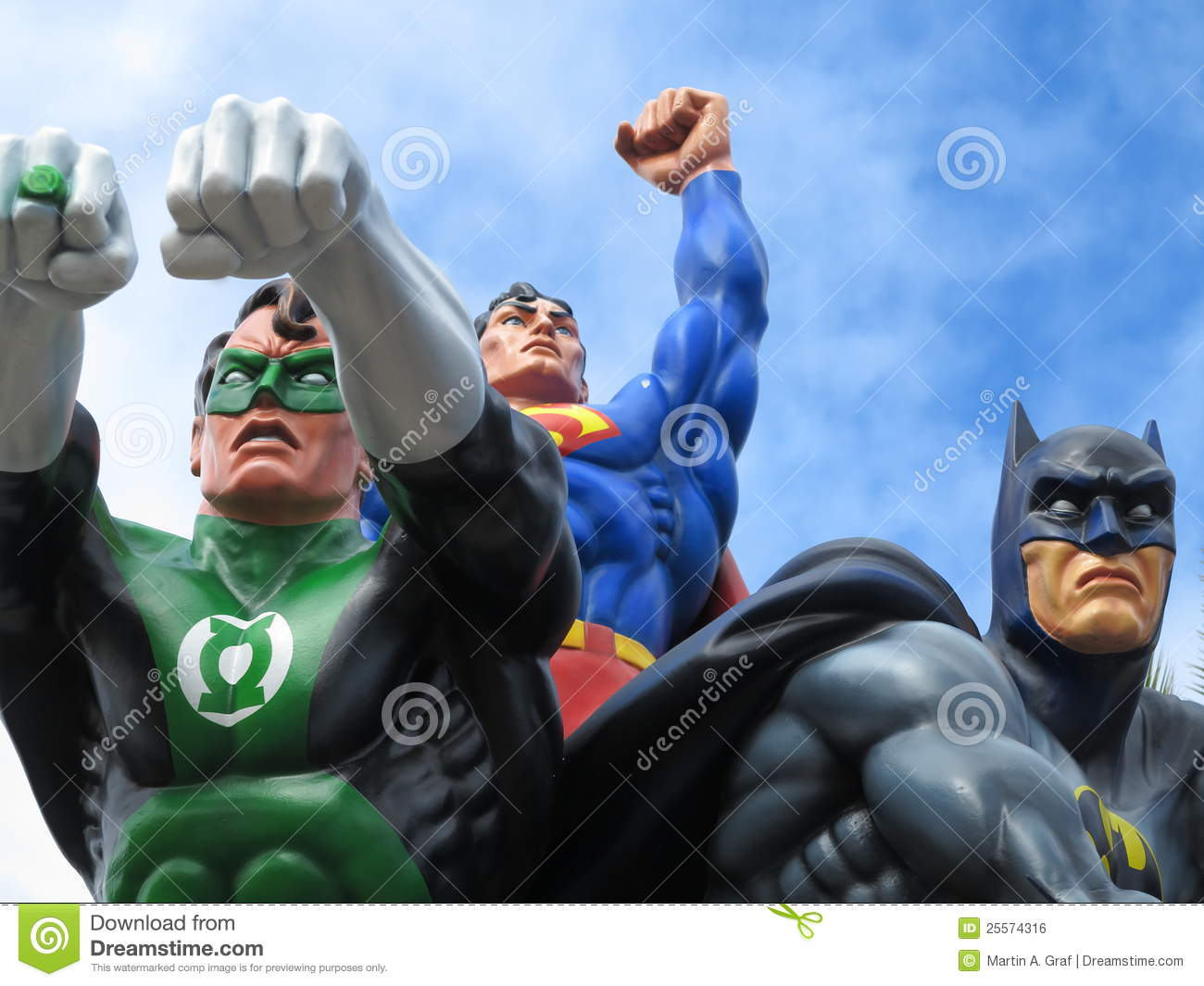 Green Lantern, Superman and Batman