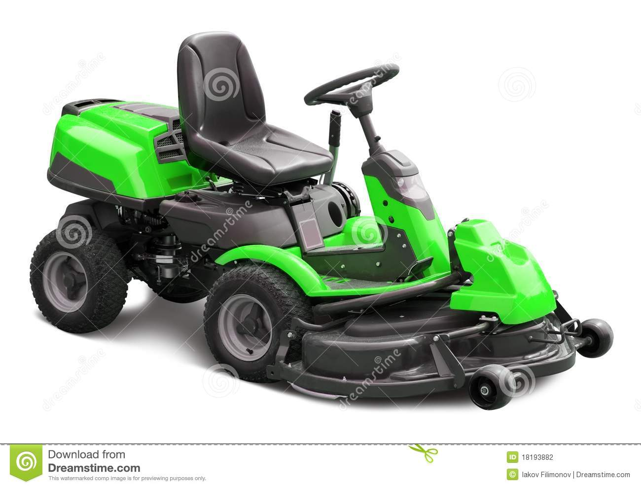 Green Lawn Mower Stock Photography Image 18193882