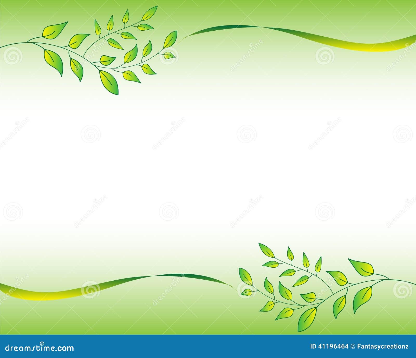 Green leaf border illustration featuring frame leaves 41196464 jpg