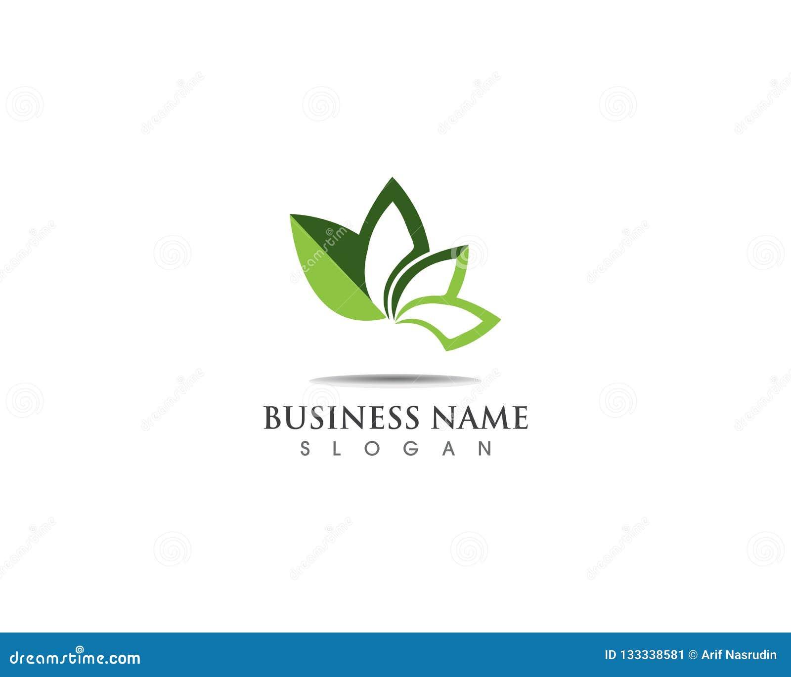Green Leaf Logo Design Nature Ecology Stock Illustration ...