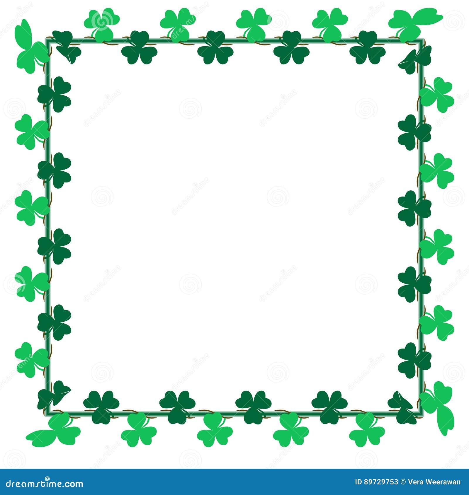 Green leaf Shamrock clip art for card, background and backdrop decoration