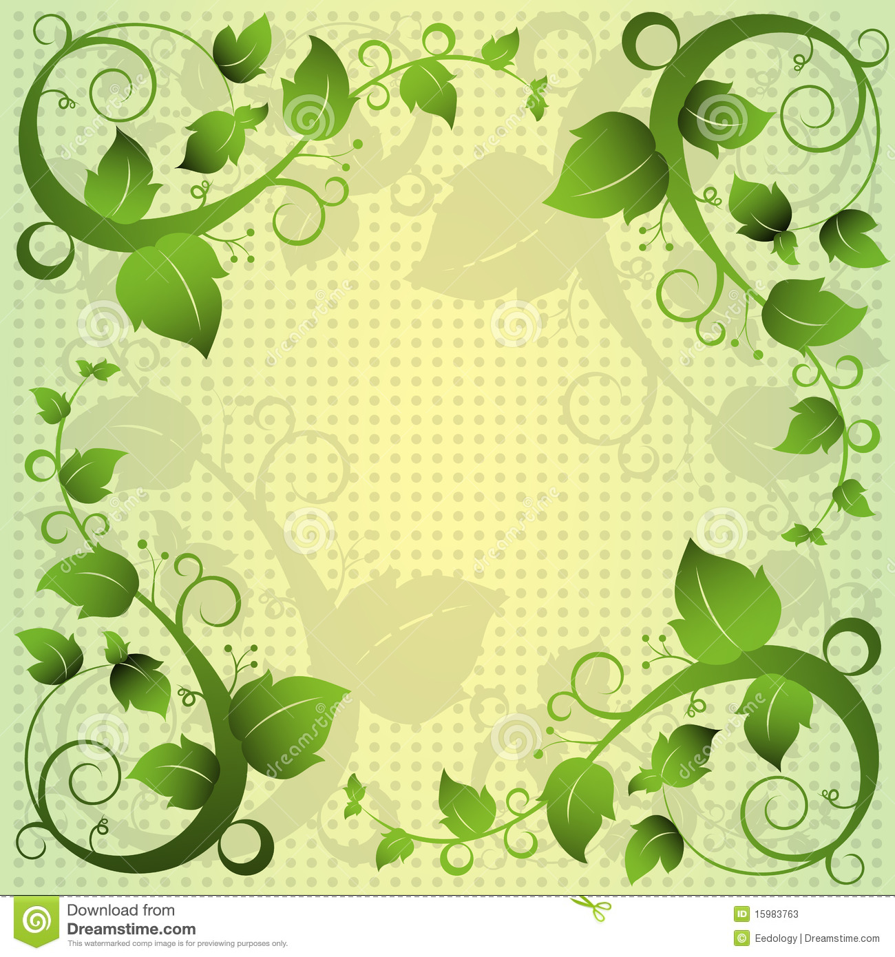green leaf swirl abstract frame background stock photos