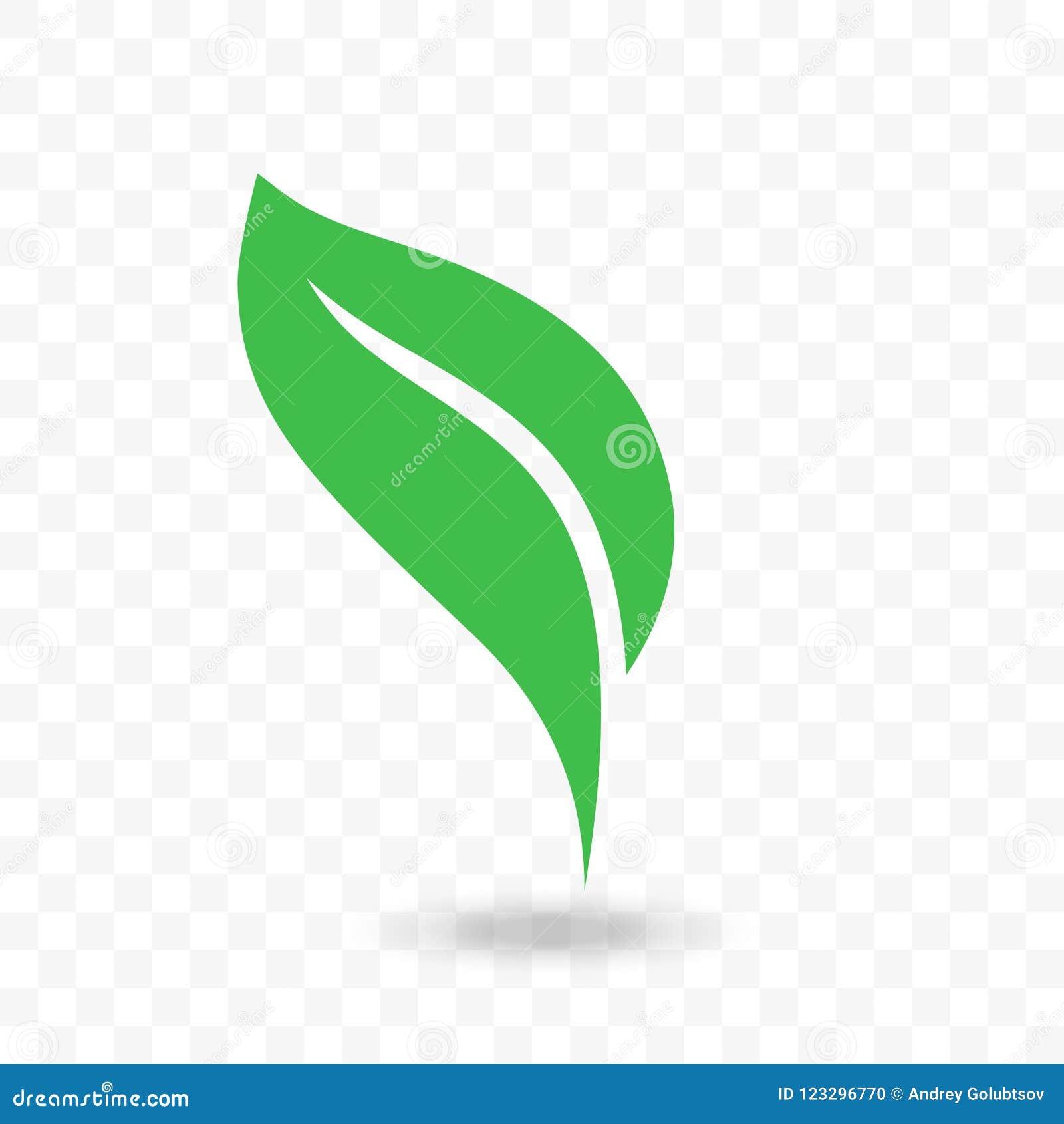 Green Leaf Vector Vegan, Bio Or Eco Icon Stock Vector - Illustration