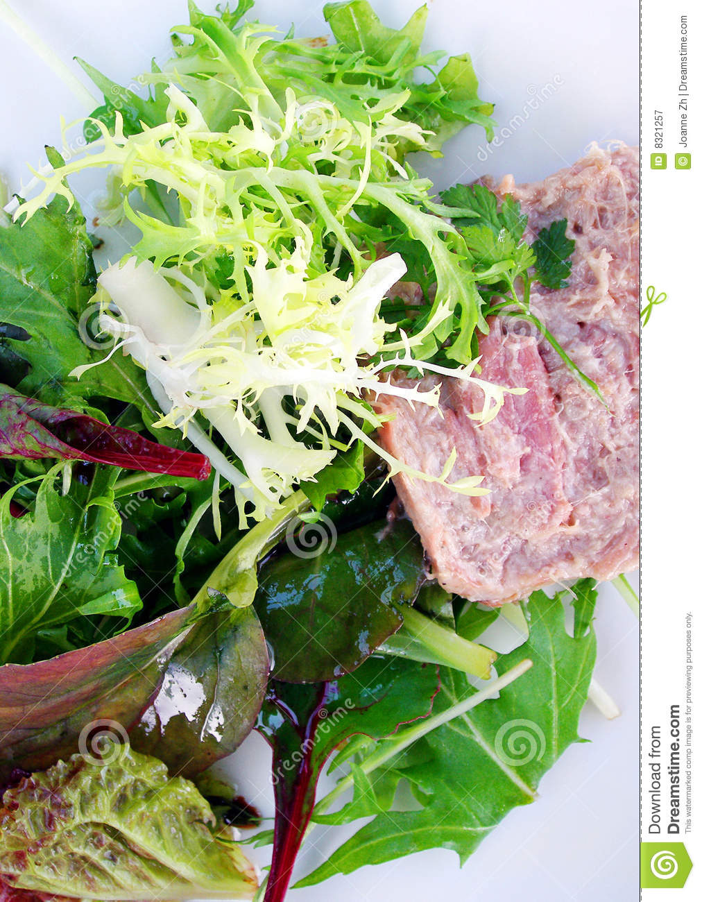 Green Leafy Lettuce Salad With Pate Royalty Free Stock Photography ...