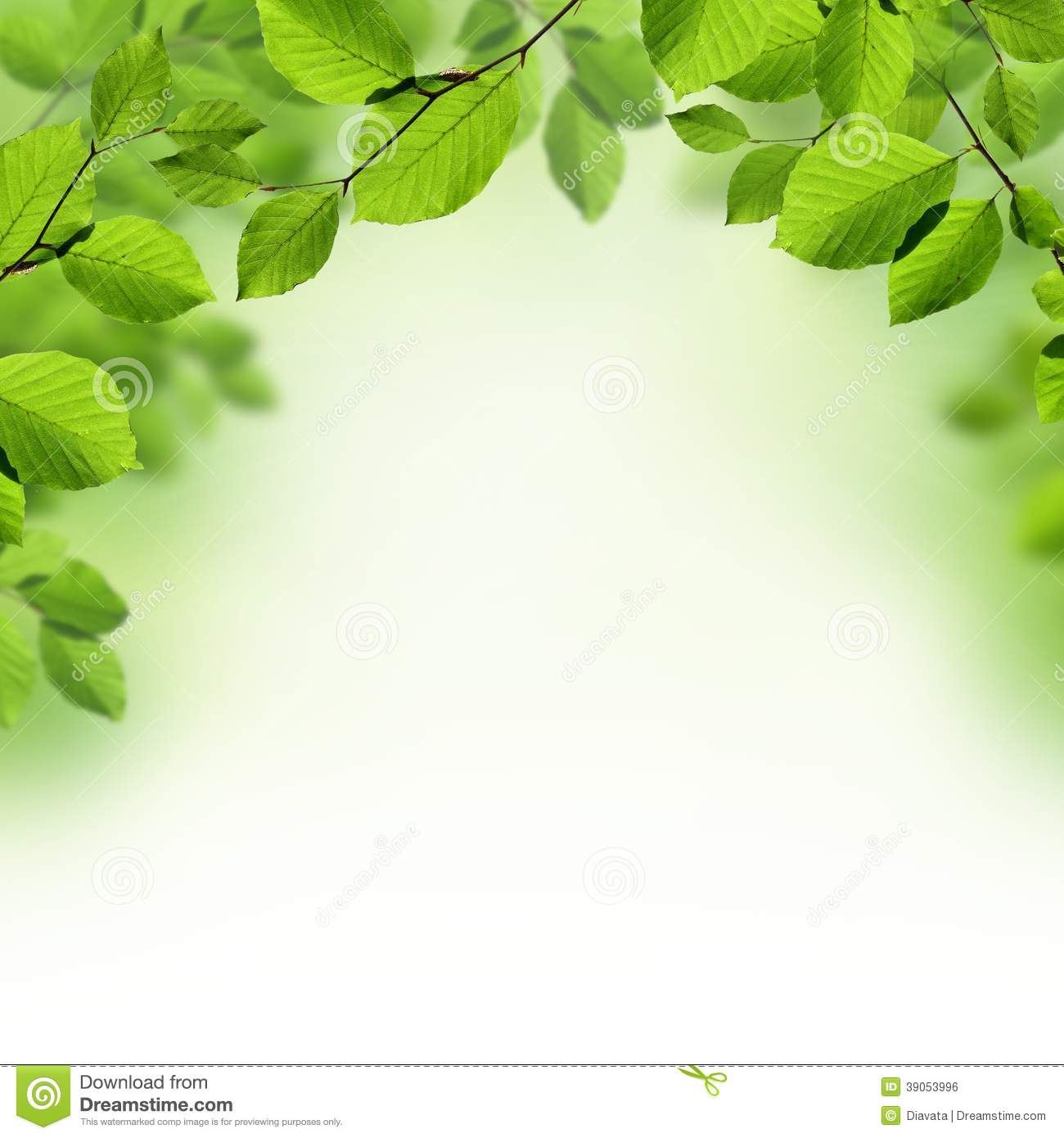 green leaves spring and summer background stock image - image, Powerpoint templates